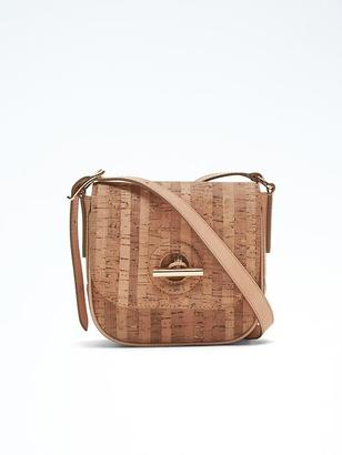 Cork Toggle Saddle Bag $118 thestylecure.com
