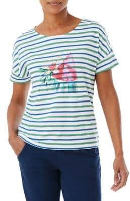 Olsen Multi-Stripe Watermelon Tee