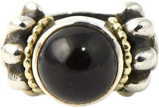 One Kings Lane Vintage Lagos Caviar Onyx - Sterling & Gold Ring