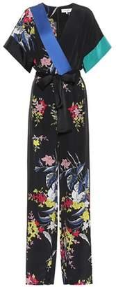 Diane von Furstenberg Floral-printed silk jumpsuit