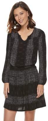 Sonoma Goods For Life Women's SONOMA Goods for Life Printed Gauze A-Line Dress
