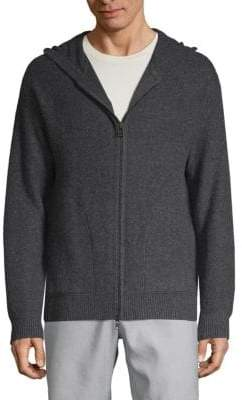 Vince Full-Zip Cashmere Hoodie