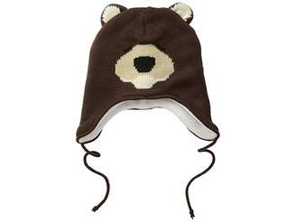 San Diego Hat Company Kids Fleece Lined Bear Beanie with Ear Covers and Tie (Toddler/Little Kids)