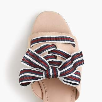 J.Crew Mini-wedge slides with lace-up ribbon