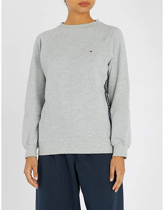Tommy Hilfiger Logo-embroidered jersey pyjama top
