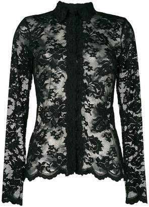 Olvi ́S lace-embroidered fitted blouse