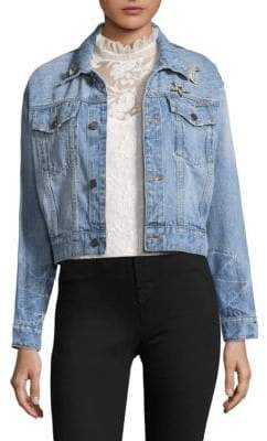 Joie Redmondia Cropped Denim Jacket
