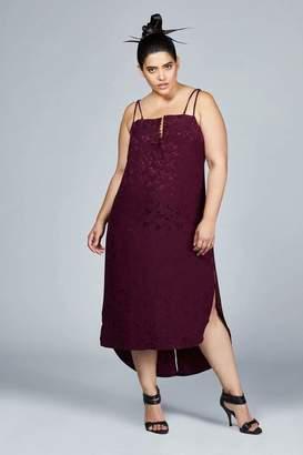 CeCe Shegul Slip Dress in Grape Size 16