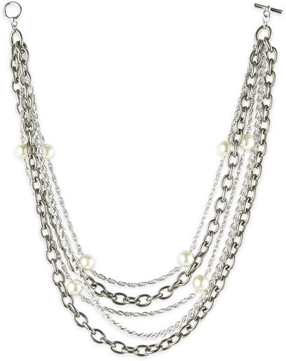 Susan Hanover Pearl and Chains Necklace