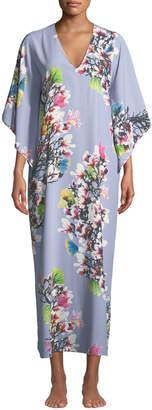 Natori Garbo Floral-Print Caftan