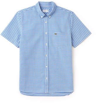 Lacoste Men's Regular Fit Mini Check Oxford Shirt