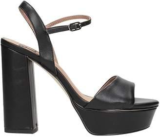 Bibi Lou Black Leather Sandals