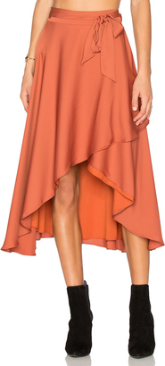 House of Harlow x REVOLVE Maya Wrap Skirt $110 thestylecure.com