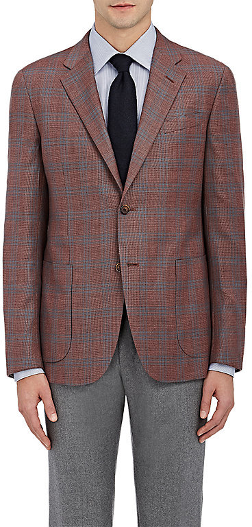 Barneys New YorkBarneys New York BARNEYS NEW YORK MEN'S CHECKED WOOL-SILK TWO-BUTTON SPORTCOAT