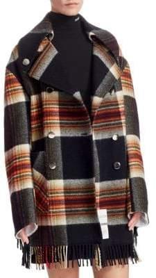 Calvin Klein Pendleton Plaid Wool Coat