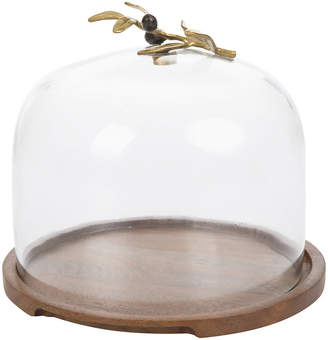 Michael Aram Olive Branch Glass Dome & Base