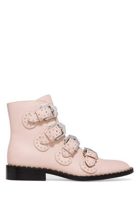 Givenchy Elegant Studded Leather Ankle Boots - Pastel pink