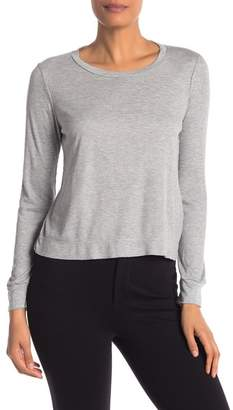 David Lerner Ribbed Knit Long Sleeve Tee