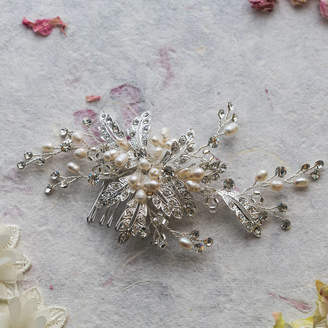 Ophelia Lola & Alice Crystal And Pearl Hair Comb
