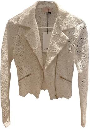 Rime Arodaky White Cotton Jacket for Women