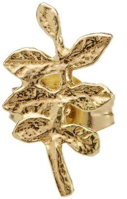 Alex Monroe Gold Verity Leaf Single Stud Earring