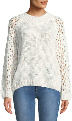 Knot Sisters Carlson Openwork-Sleeve Sweater