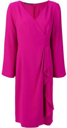 Alberta Ferretti v-neck wrap dress