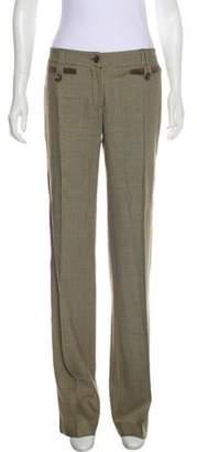 Dolce & Gabbana Mid-Rise Wide-Leg Pants Khaki Mid-Rise Wide-Leg Pants