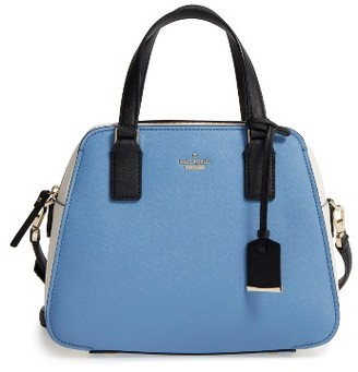 Kate Spade New York Cameron Street - Little Babe Leather Satchel - Blue $298 thestylecure.com
