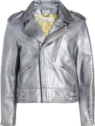 Golden Goose Metallic Leather Biker Jacket