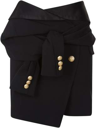 Faith Connexion Wrap Mini Skirt