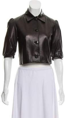 Ralph Lauren Leather Cropped Jacket