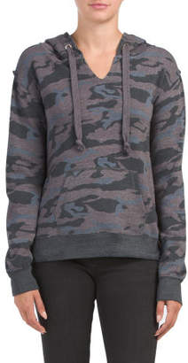 Juniors Camo Side Zipper Hoodie