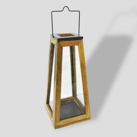 Buy Wood & Zinc Metal Outdoor Lantern!
