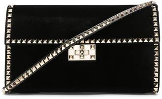 Valentino Velvet Rockstud No Limit Shoulder Bag