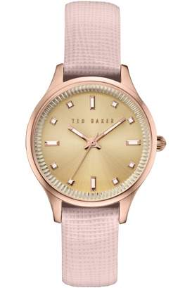 65aabe4bc652c Ted Baker Ladies Zoe Saffiano Leather Strap Watch TE10030743
