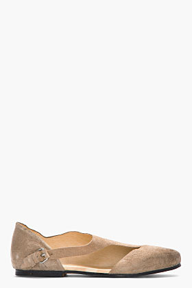 Damir Doma Beige crinkled leather Sila Cut Out Sandals