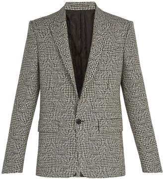 Givenchy Houndstooth flower wool blazer