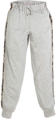 Flowers by Zoe Jogger Drawstring Pants w/ Sequin Camo Sides, Size S-XL
