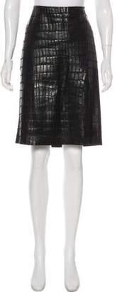 Kaufman Franco KAUFMANFRANCO Embossed Leather Skirt