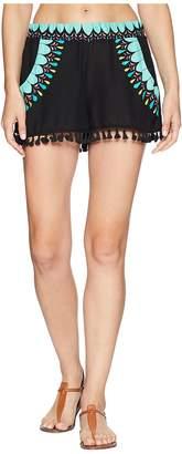 Trina Turk Sunburst Tassel Shorts Cover-Up Women's Swimwear