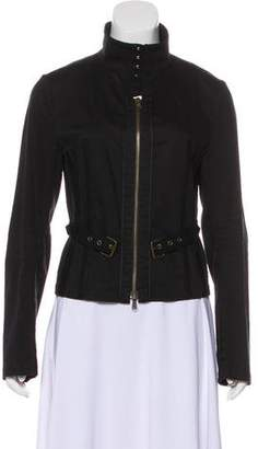 CNC Costume National Belted Zip-Up Jacket