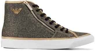 Emporio Armani logo high-top sneakers