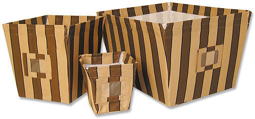 Trend Lab Hot Cocoa Stripe 3 Bin Storage Set