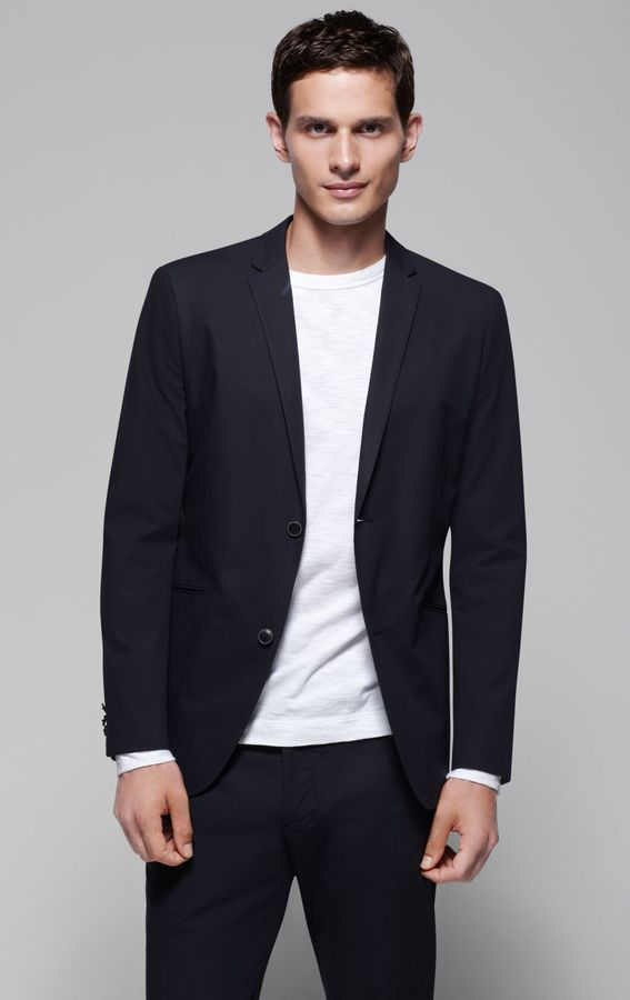 Theory Kris HL Sportcoat in Gordian Cotton Blend