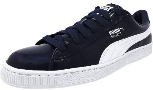 Puma Men's Basket Matte And Shine Peacoat / White Fashion Sneaker - 8.5M
