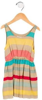 Alice + Olivia Girls' Striped A-Line Dress