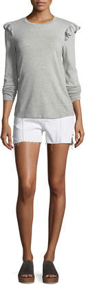 Neiman Marcus Acynetic Carrie High-Rise Denim Shorts