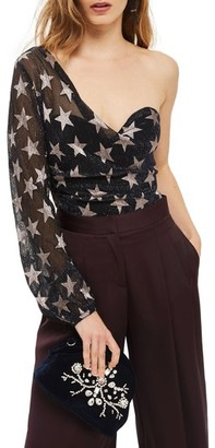 Topshop Star One-Shoulder Bodysuit