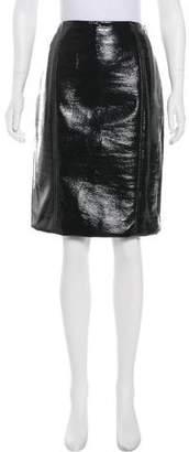 Jonathan Saunders Vinyl Knee-Length Skirt